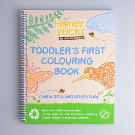 honeysticks toddler's first colouring book